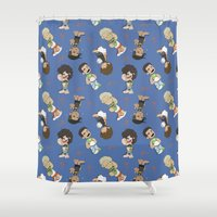 1d Shower Curtains featuring Sleepy 1D by Ashley R. Guillory