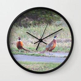 Pleasant Pheasants Wall Clock