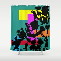90s Shower Curtains featuring The 90s by Grace Billingslea