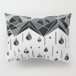 Geometric rain Pillow Sham