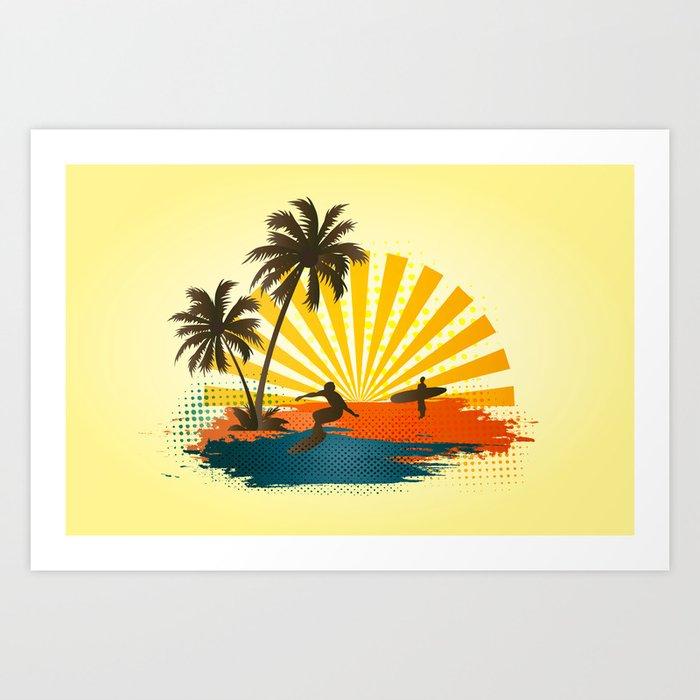 Surfers Kunstdrucke