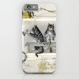 music & cats, original digital art iPhone Case