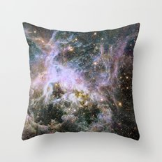 Cosmic Tarantula Nebula (infrared view) Throw Pillow