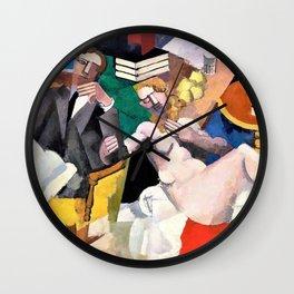 Roger de La Fresnaye - Married Life, La Vie conjugale - Digital Remastered Edition Wall Clock