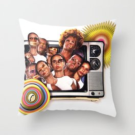 Cannon fodder | Collage Throw Pillow