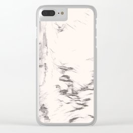 I See Beauty - Warm Black & White Clear iPhone Case