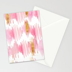 Vertical watercolor strokes 02 Stationery Cards