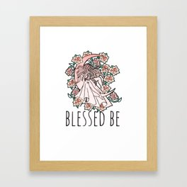 Blessed Be Moon Goddess Framed Art Print