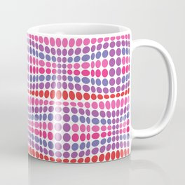 Dottywave - Red Pink Purple wave dots pattern Coffee Mug