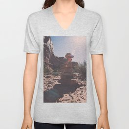 Trail Markers in Arches National Park Unisex V-Neck