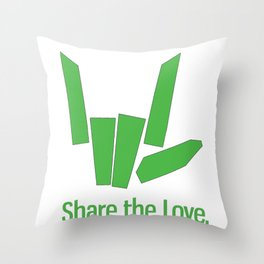 Share The Love Throw Pillow