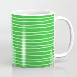 Grass Green Pinstripes Coffee Mug