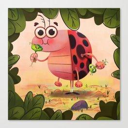 Hungry ladybird Canvas Print