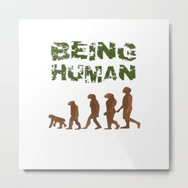 Being Human - Devolution Metal Print