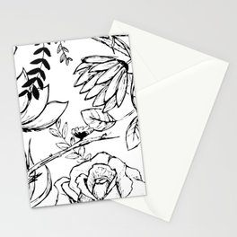 Floral Illustration (clear background) Stationery Cards