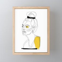 Yellow Sketch Framed Mini Art Print