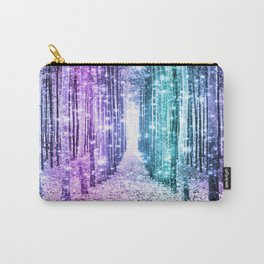 Magical Forest Lavender Aqua Teal Ombre Carry-All Pouch