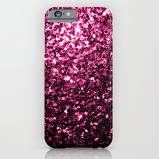 Beautiful Pink glitter sparkles iPhone 6 Slim Case