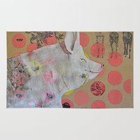 guinea pig Area & Throw Rugs featuring pig by ferzan aktas
