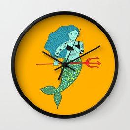 Tattoo mermaid Wall Clock