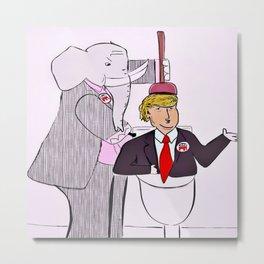 Flush Trump Metal Print