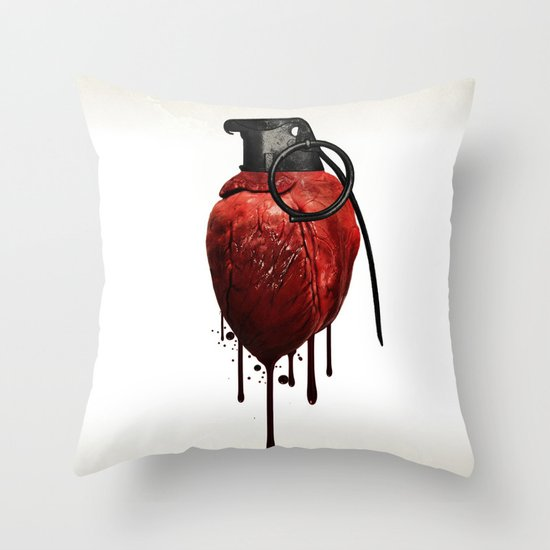 Heart Grenade Throw Pillow By Nicklas Gustafsson Society6