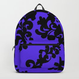 Victorian Damask Purple and Black Backpack