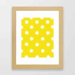Yellow & White Polka Dot Framed Art Print