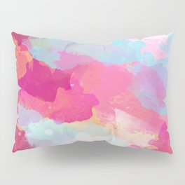 Colorful Abstract - pink and blue pattern Pillow Sham
