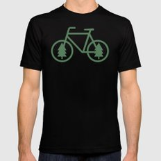 Pacific Northwest Cycling - Bike, Bicycle, Portland, PDX, Seattle, Washington, Oregon, Portlandia LARGE Black Mens Fitted Tee