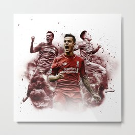 Liverpool FC: Philippe Coutinho cloud design Metal Print