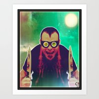 butcher billy Art Prints featuring butcher by The Ceremonial Dagger