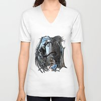 nightmare V-neck T-shirts featuring Nightmare by Ju.jo.weh