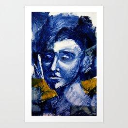 Blue Portrait Art Print