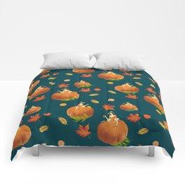 Lady Pumpkin for Halloween Pattern Comforters