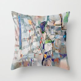 Equitable Fragments Throw Pillow