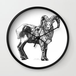 Big Horn Sheep Wall Clock