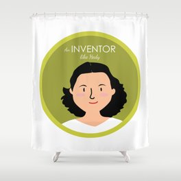 An Inventor like Hedy Lamarr Shower Curtain
