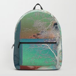 Sunset Birch Tree Backpack