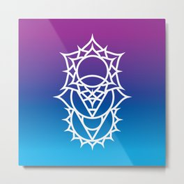 Throat, Third Eye & Crown Chakra Intersection Metal Print