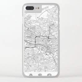 Glasgow Map Line Clear iPhone Case