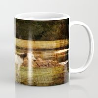 horses Mugs featuring Horses by Christy Leigh
