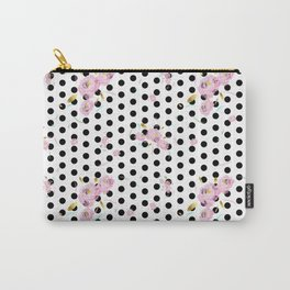 Floral Dot Carry-All Pouch