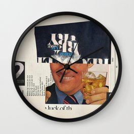 happy hour (one for my homies) Wall Clock