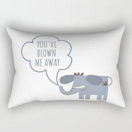 You blow me away - cute elephant Rectangular Pillow