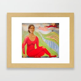 """The Lady In Red"" Framed Art Print"