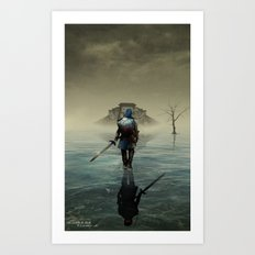 The hardest battle lies within (NEW Version) Art Print
