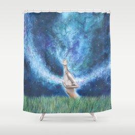 Everywhere I Go Shower Curtain