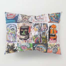 Basquiat Faces Montage Pillow Sham