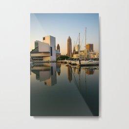 Cleveland Ohio City Skyline Harbor Gift Ideas Metal Print